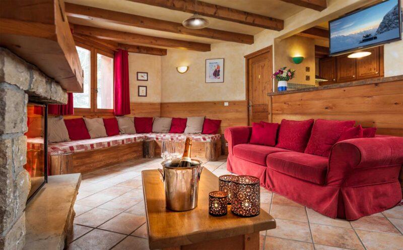 Chalet Morgane - La Tania - Living room