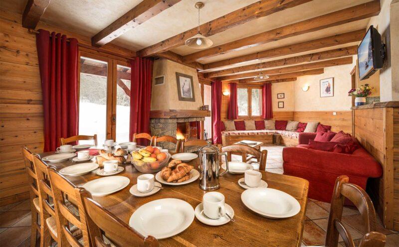 Chalet Morgane - La Tania - Dining area